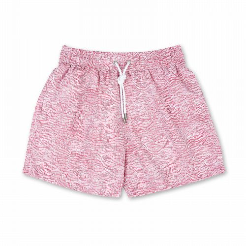 Swim Shorts - Ecailles - Salmon Pink